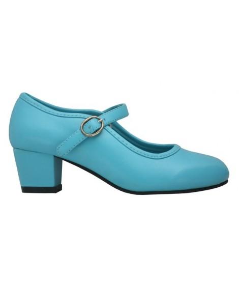Zapato de Flamenca Turquesa
