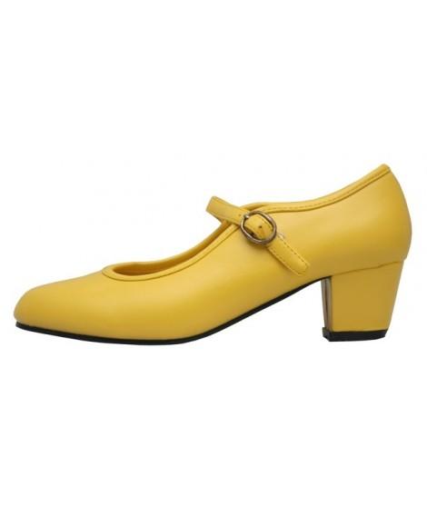 Zapato de Flamenca Amarillo