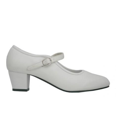 Zapato de Flamenca Blanco